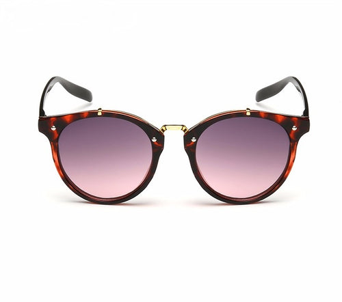 Ralferty Vintage Ladies Gradient Red Leopard Sunglasses Online Store UAE