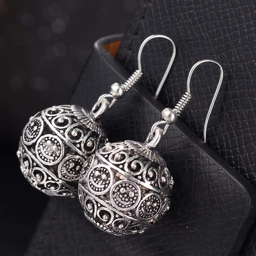 Ball Drop Tibetan Punk Earrings Online Store UAE