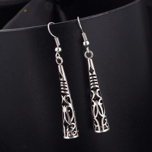 Bohemia Vintage Long Hollow Tassel Drop Earring Online Store UAE