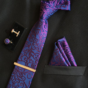 Neck Tie Set Purple Online Store UAE