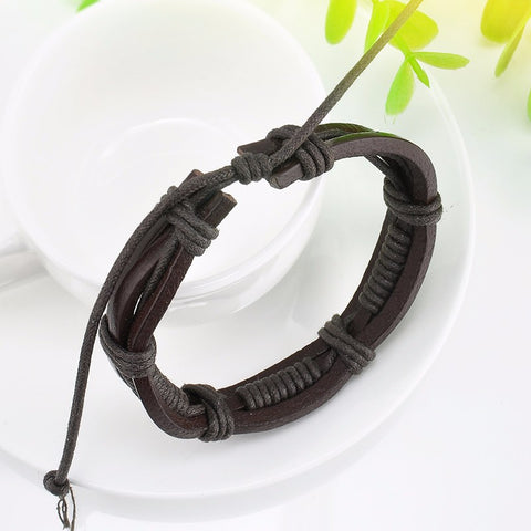 Multi layer Wrap Brown Bracelet