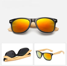 Load image into Gallery viewer, Ralferty Wooden Frame Black Red Mercury Sunglasses