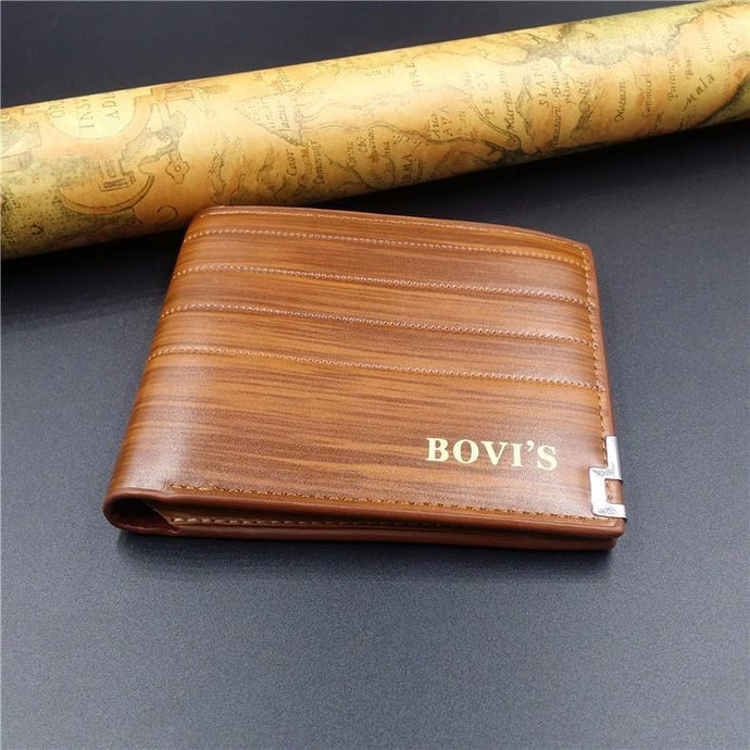 Bovi's  Short Leather Wallets
