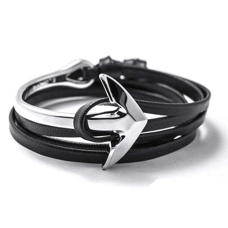 Anchor Leather Bracelets Online Shopping Store