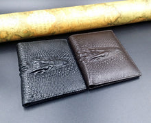 Load image into Gallery viewer, Short Crocodile Design Real Cowhide Genuine Leather Wallet