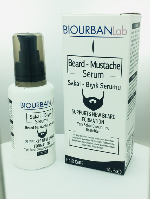 BEARD AND MUSTACHE SERUM 100 ML (BIOURBANLab)