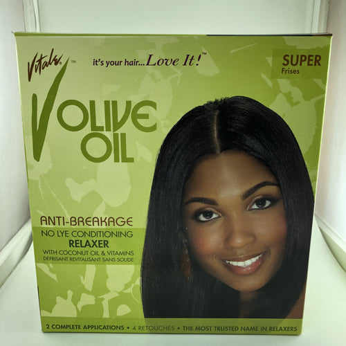 Vitale Olive Oil Anti-Breakage No Lye Relaxer Regular Kit 2 Online Store UAE
