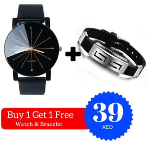 Buy 1 Get 1 Free - Mujer Watch & Silver Slippy Bracelet