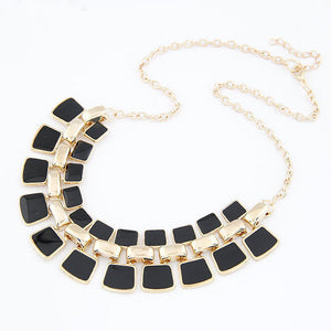 Trendy Square Link Chain Necklace Online Shopping Store