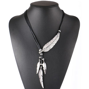 Feather Rope Chain Necklace