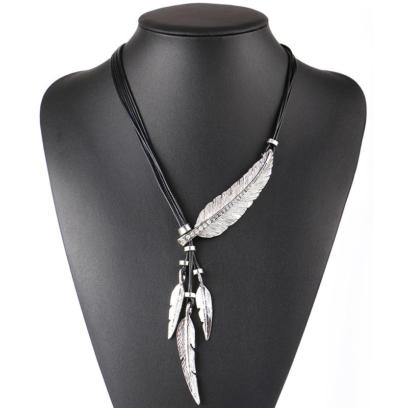 Feather Rope Chain Necklace Online Store UAE