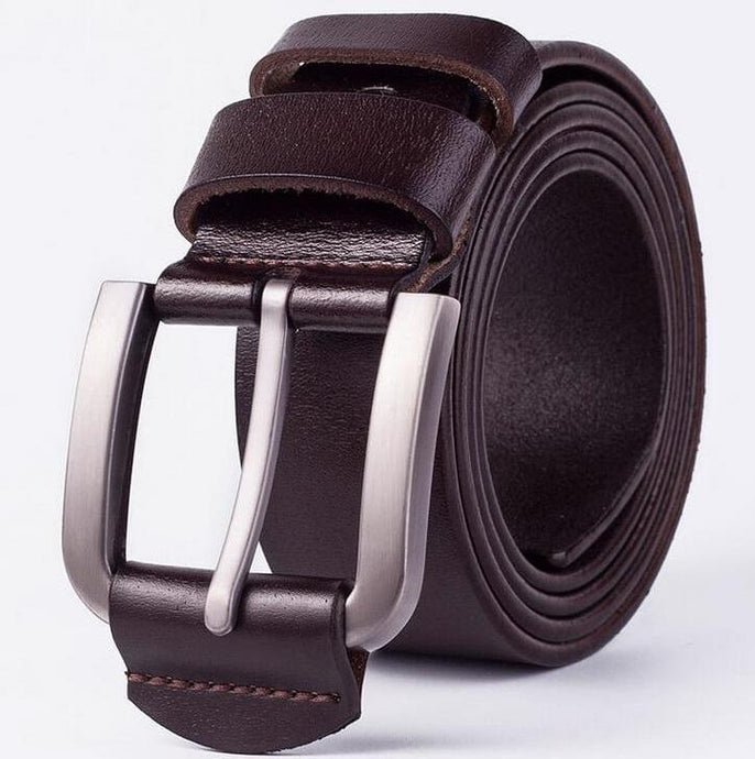 Cow Leather Dark Coffee Belts ZK004