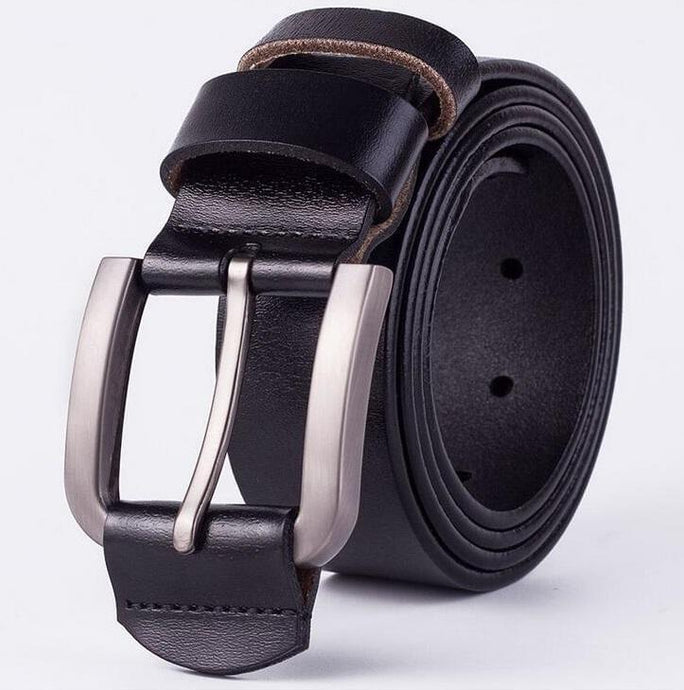 Cow Leather Black Belts ZK004