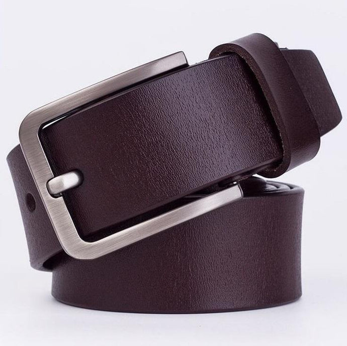 Cow Leather Dark Coffee Belts ZK005