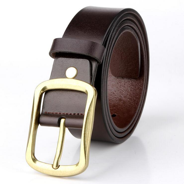 Cow Leather Coffee Belts ZK006 Online Shopping Store