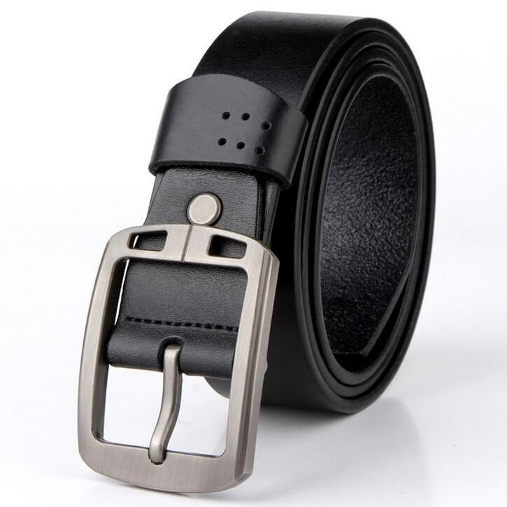 Cow Leather Black Belts ZK010 Online Store UAE