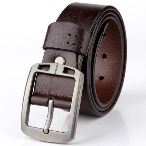 Cow Leather Coffee Belts ZK010 Online Store UAE