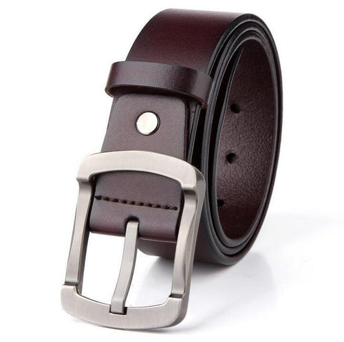 Cow Leather Coffee Belts ZK011 Online Store UAE
