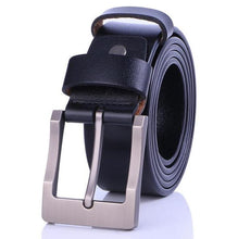 Load image into Gallery viewer, Cow Leather Black Belts ZK033