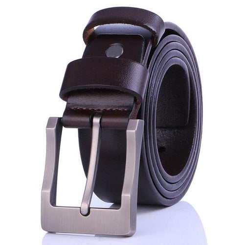 Cow Leather Coffee Belts ZK033 Online Store UAE