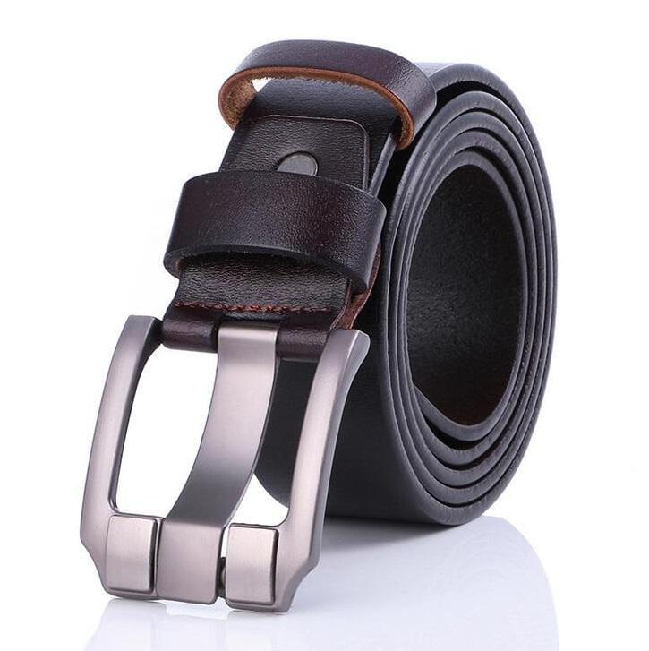 Cow Leather Dark Coffee Belts ZK035 Online Store UAE