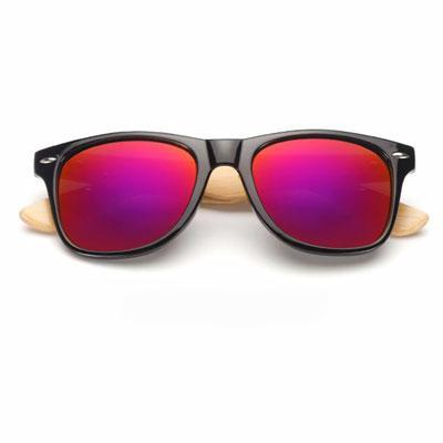 Ralferty Wooden Frame Black Purple Sunglasses