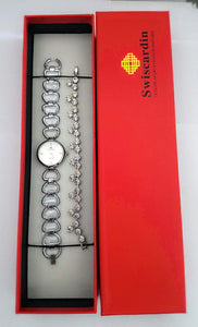 Swiscardin Watch & Bracelet Bundle With Box.
