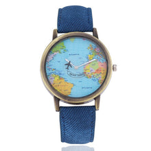 Load image into Gallery viewer, World Map Dial Watches