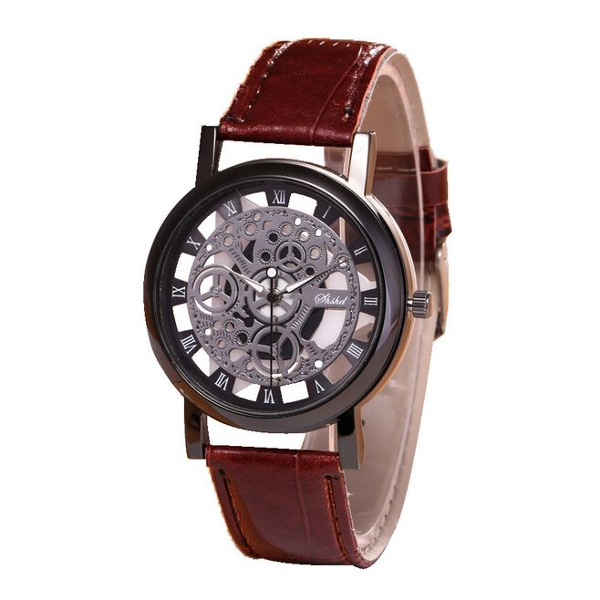 Skeleton Leather Band Wrist Watch Online Shopping Store