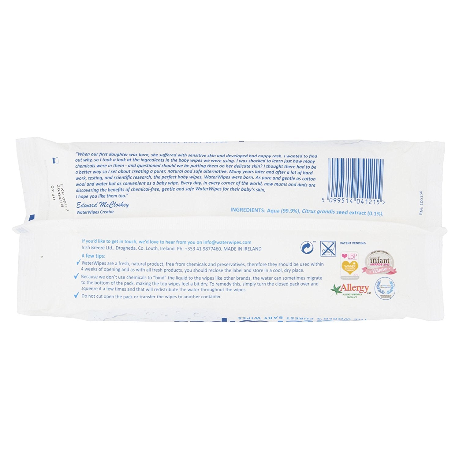 WaterWipes Baby Wipes, 9x60 (540 Wipes)