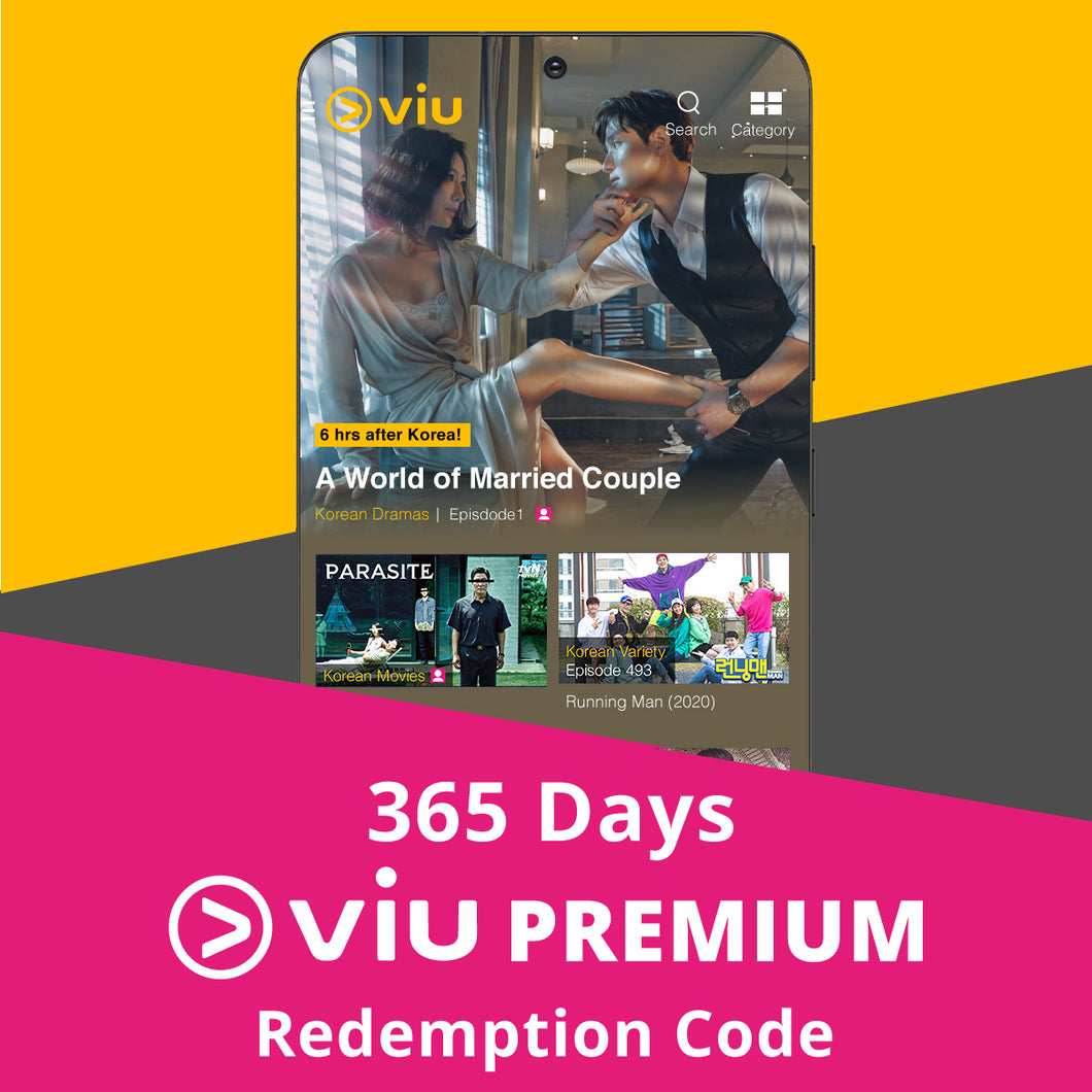 [BEST VALUE] 365 Days Viu Premium Subscription