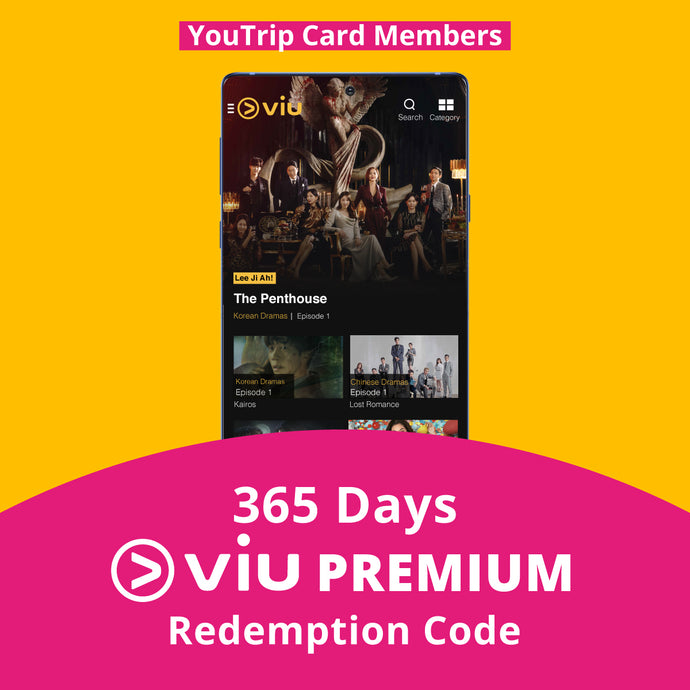 [BEST VALUE] 365 Days Viu Premium Subscription - YouTrip Card Members