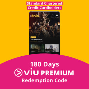 180 Days Viu Premium Subscription - Standard Chartered Credit Card Holders