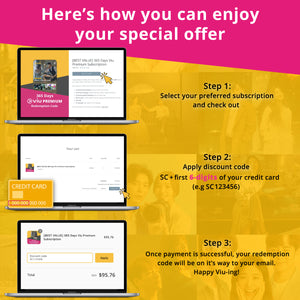 [BEST VALUE] 365 Days Viu Premium Subscription - Standard Chartered Credit Card Holders