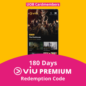180 Days Viu Premium Subscription - UOB Cardmembers