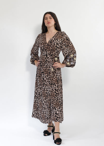 Babooska Leopardskin animal print dress