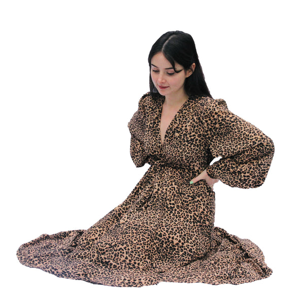 Percy Dress in Leopard Print