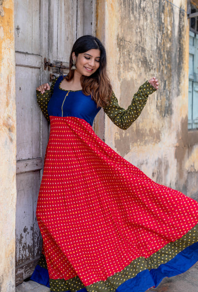 Kanika Red Bandhini Dress
