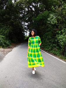 Green Buffalo Gingham Dress