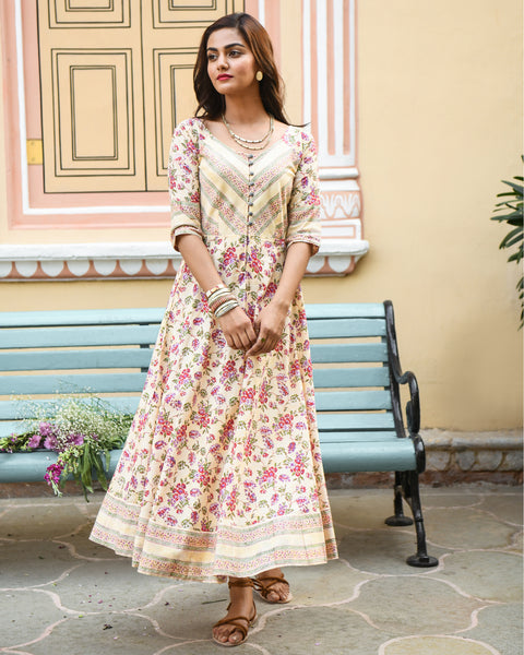 Floral Jaal Dress