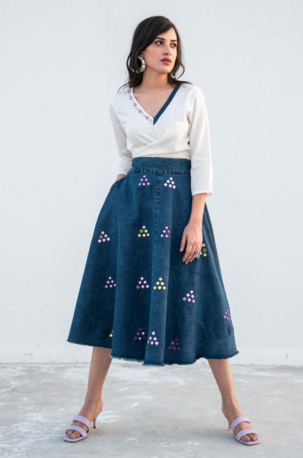 Clara Denim Skirt