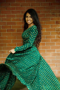 Dreamy Bandhini Green
