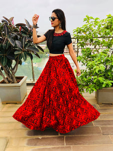 Banjara Crop top and Skirt