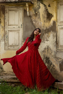 Dreamy Bandhini Red