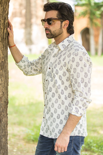 White Gulaab Shirt