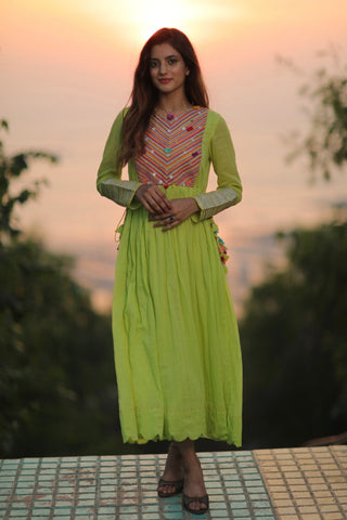 Lime Meadow Pop Dress