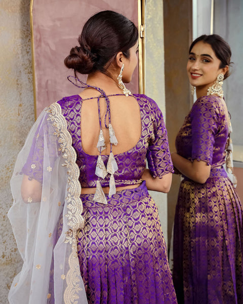 Disha - Banarasi Lehenga Choli with Duppatta