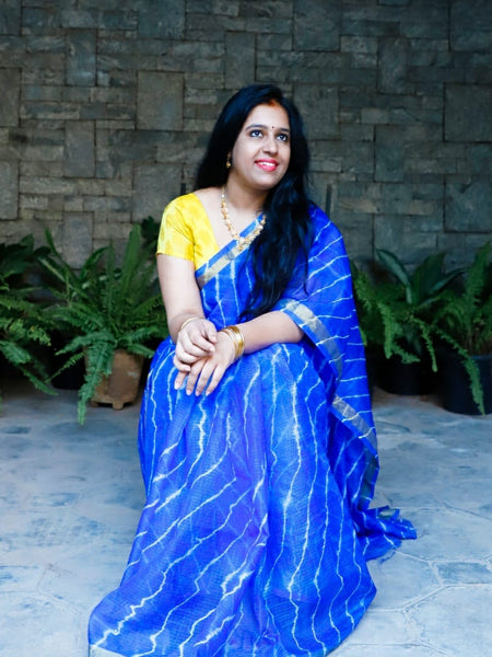 Kota Leheriya Saree - Blue