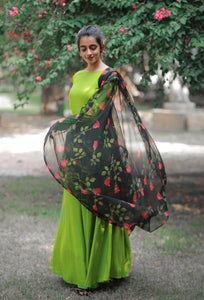 Pear Dupatta Set