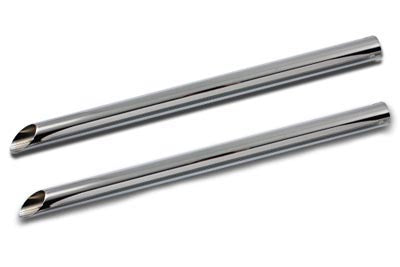 "Chrome 30"" Straight Exhaust Pipe Extension For Harley-Davidson"